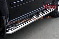 Пороги с листом d 42 (компл. 2 шт) Союз 96 на Nissan X-Trail 2003-2007