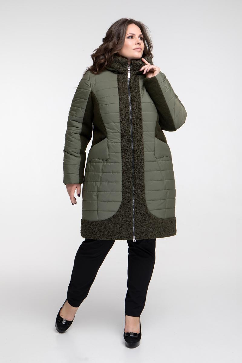 c4db28034a0 Женская Куртка-пальто Больших Размеров