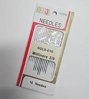 "Набор игл с золотым ушком 3/9 ""Regal needles"""
