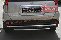 Защита задняя d 42/42 двойная Союз 96 на Nissan X-Trail 2007-2010