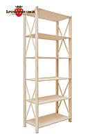 Стеллаж деревянный Прованс-630 Slim 191х78х30 см, стеллаж универсальный
