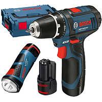 Набор аккумуляторный шуруповерт Bosch GSR 12V-15 + фонарь GLI 12V-80 + L-BOXX 102 (0615990FZ9)