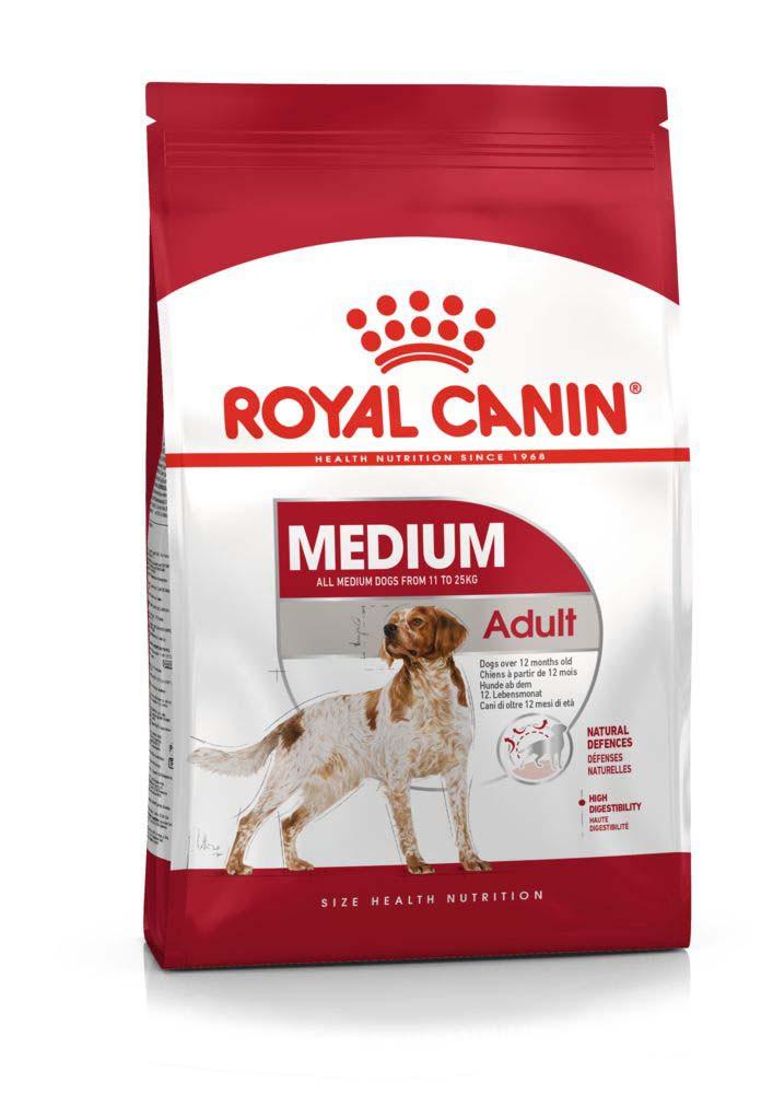 Для средних пород от 12 месяцев Royal Canin Medium Adult, 4 кг