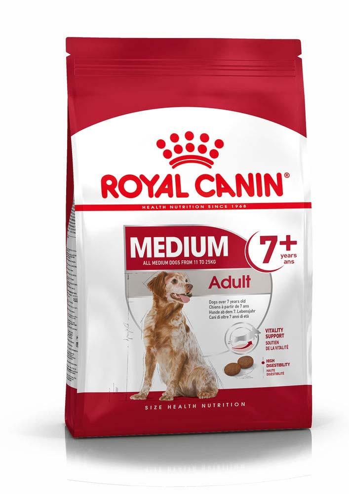 Для средних пород старше 7 лет Royal Canin Medium Adult 7+, 4 кг