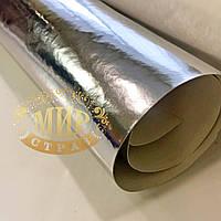 Кожа Pu для создания аксессуаров, цвет Серебро, отрезок 20х70см