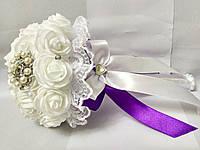 Свадебный букет-дублер для невесты Stile (Фиолетово-белый), фото 1