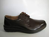 Мужские кожаные туфли на шнурках ТМ TJTJ, фото 1