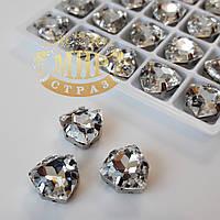 Cтразы в цапах Триллиант, размер 12мм, цвет Crystal, 1шт