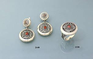 Набор из серебра с цирконом, фото 2