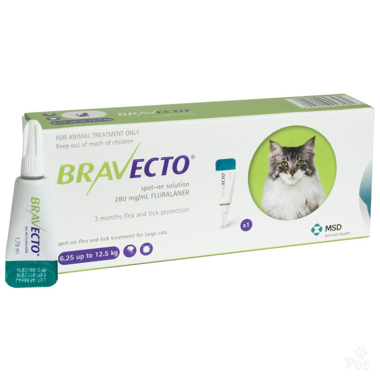 Капли Бравекто (Bravecto) для кошек 6,25 - 12,5 кг