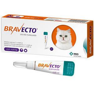 Капли Бравекто (Bravecto) для кошек 2,8 - 6,25 кг