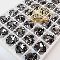 Cтразы в цапах Триллиант, размер 12мм, цвет Black Diamond, 1шт