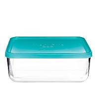 Емкость для продуктов Bormioli Rocco System 26 х 21 см, голубая (335150MA4121990)_281576