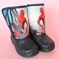 Детские сапоги дутики для мальчика Spiderman на меху зимние Vitaliya р.25,5