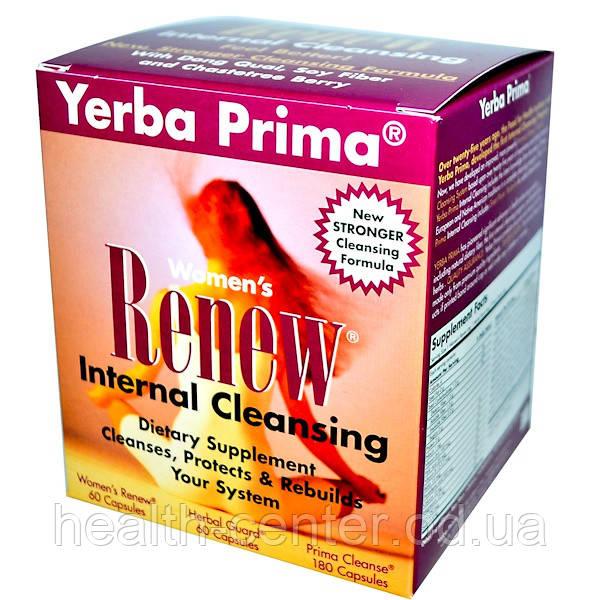 Программа очищения для женщин Women's Renew Internal Cleansing 30 дней очищение организма  Yerba Prima USA