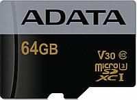AData Premier Pro microSDXC/SDHC UHS-I U3 Class 10 (V30G) [AUSDX64GUI3V30G-RA1]