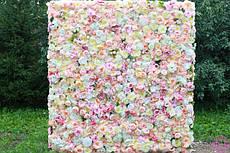 Фотозоны из искусственных цветов