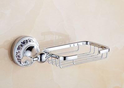 Мыльница хромированная настенная для ванной или на кухню 0551