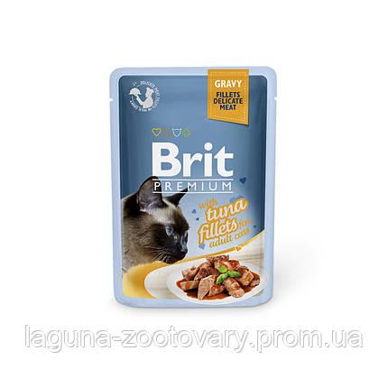 Brit Premium Cat pouch 85 g филе тунца в соусе, фото 2