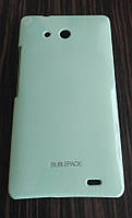 Чехол-накладка для Huawei Ascend Mate MT1-U06, пластиковый, Buble Pack, Бирюзовый /case/кейс /хуавей