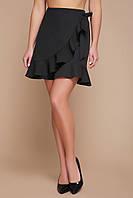 Черная юбка с рюшей, фото 1
