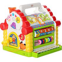 Музыкальная развивающая игрушка Теремок-сортер, свет, звук