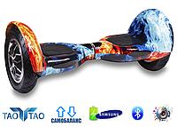 """Гироборд Smart Balance Wheel 10"""" TaoTao Огонь и лёд"""
