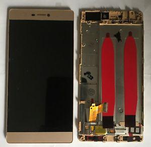 Huawei Ascend P8 GRA L09 дисплей в зборі з тачскріном модуль з рамкою золотий Original