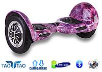 """Гироборд Smart Balance Wheel 10"""" TaoTao Космос фиолетовый"""