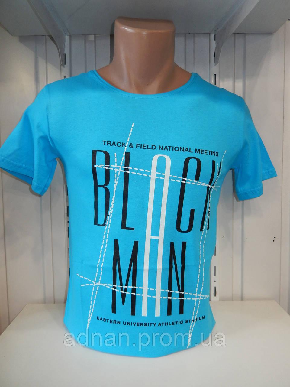 Футболка мужская ENISTE Black Man, стрейч 007 \ купить футболку мужскую оптом