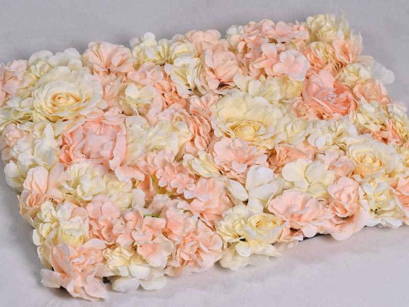 Фотозона из цветов персик полиуретан и ткань искусственный размер 60*40см