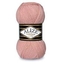 Пряжа шерсть с акрилом нитки для вязания Alize Superlana Klasik