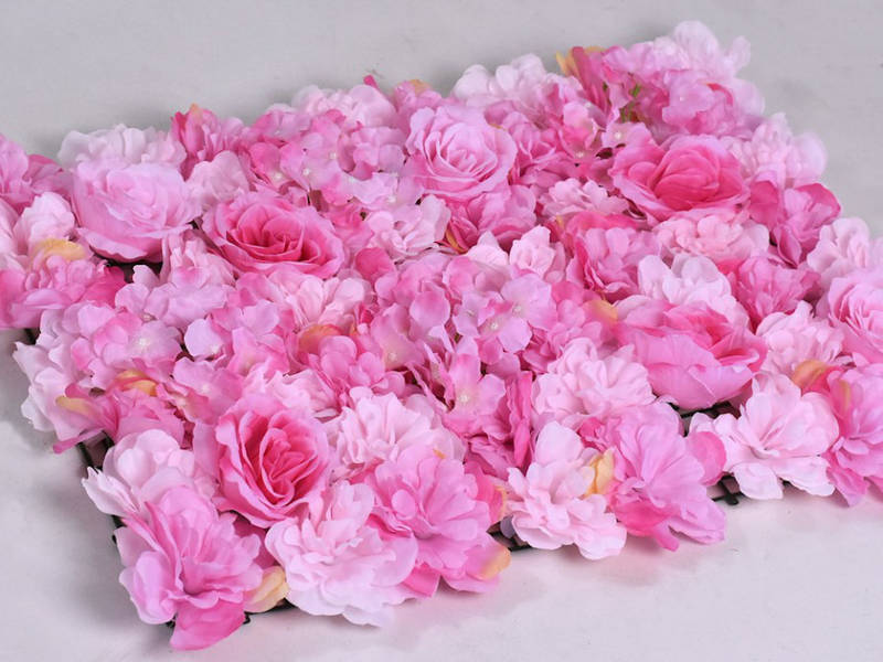 Фотозона из цветов розовые полиуретан и ткань искусственный размер 60*40см