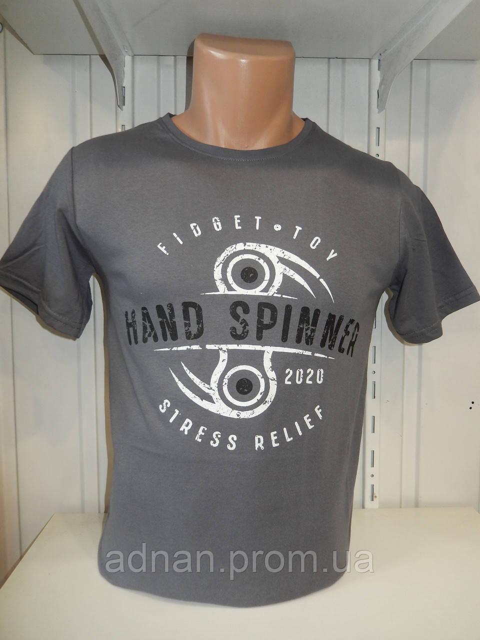 Футболка мужская ENISTE Hand Spiner, стрейч 010 \ купить футболку мужскую оптом