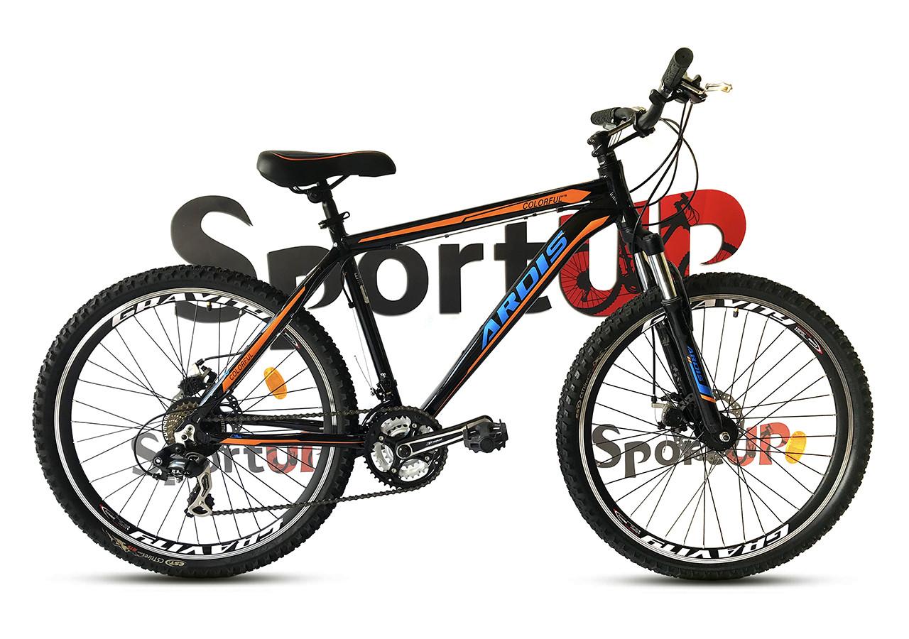 """Горный велосипед ARDIS COLORFUL 26"""" Черный /Оранжевый"""