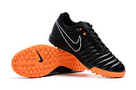 Футбольные сороконожки Nike Tiempo Legend VII Academy TF Black/Total Orange/Black/White, фото 1