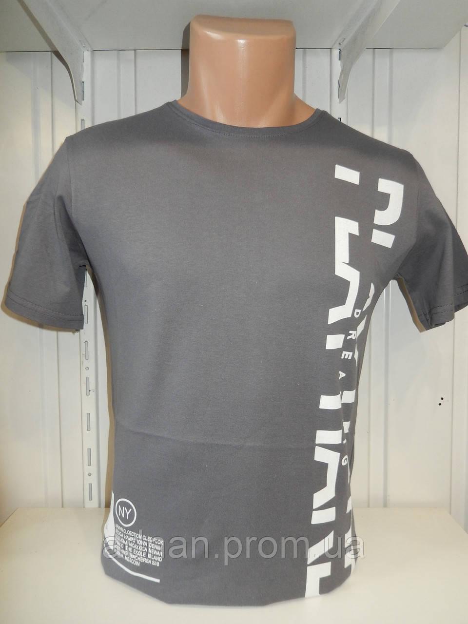 Футболка мужская ENISTE PLAY, стрейч 008 \ купить футболку мужскую оптом