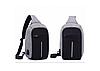 Рюкзак Bobby Mini антивор, школьный ранец через плечо с USB-выходом 2 цвета, фото 5