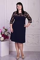 Женское платье большого размера с гипюром, фото 1