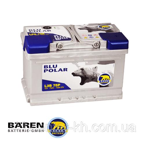 Автомобильные аккумуляторы BAREN BLU POLAR 6СТ- 75Аз 730А R