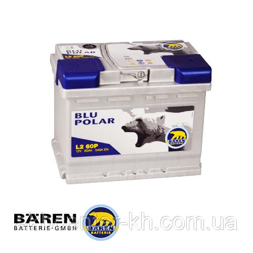 Автомобильные аккумуляторы BAREN BLU POLAR 6СТ- 60Аз 540А R