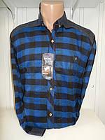 Рубашка мужская SENATO длинный рукав, полу-кашемир, клетка  005\ купить рубашку