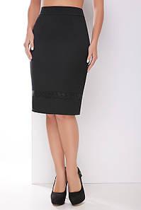 Женская классическая юбка с карманами (1794 mrs) Черный