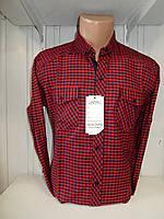 Рубашка мужская SENATO длинный рукав, полу-кашемир, клетка, 002\ купить рубашку