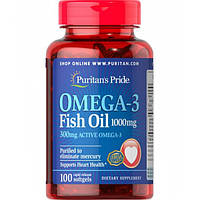 Puritan's Pride Omega-3 Fish Oil 1000 mg 100 softgels