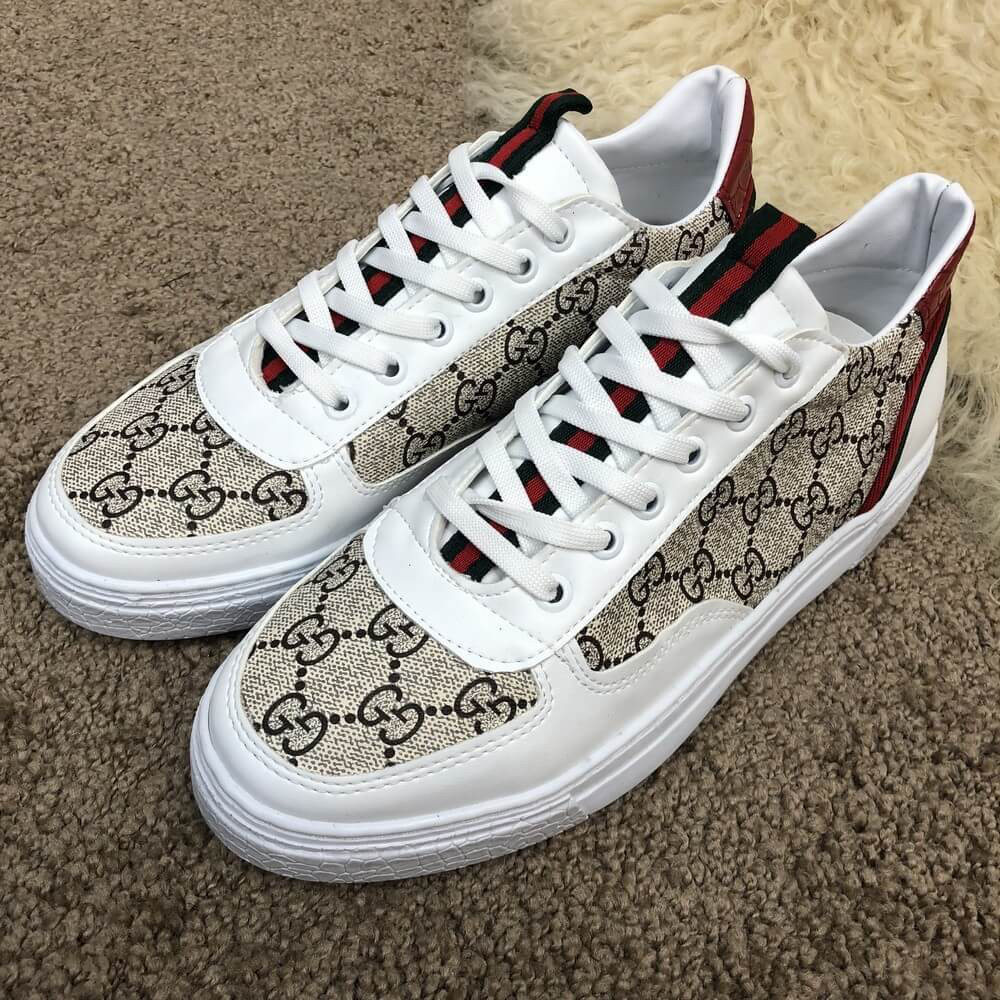Мужские кроссовки Gucci Head GG Supreme Sneaker White Red  продажа ... 9dafc2b15cf