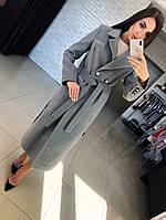 """Демисезонное женское пальто  """"Дания"""",серый"""