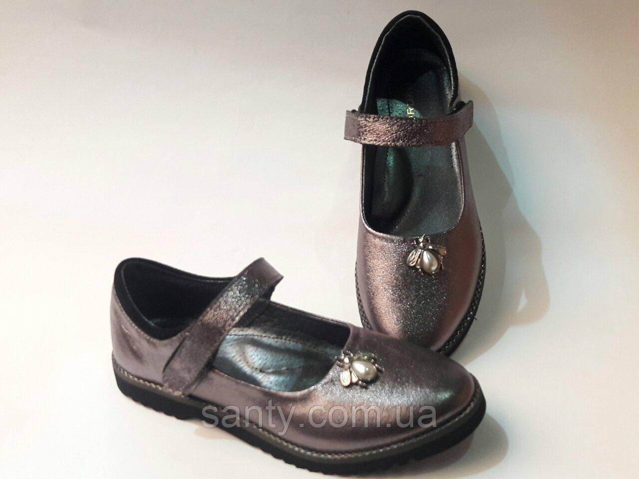 Туфли для девочки из натуральной кожи, фото 1