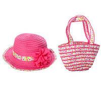 Детский летний набор для девочки (сумочка и шляпка) X11538