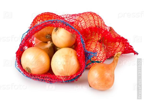 Сетка овощная 29*37см (до 5кг) с завязкой красная, мешок сетка